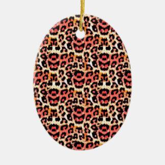 Cheetah Animal Print Christmas Ornament