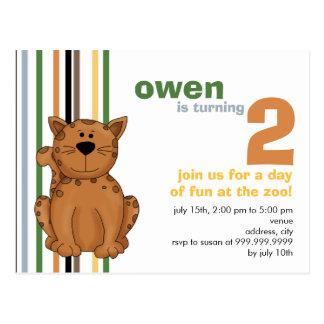 Cheetah • Birthday Invitation Post Cards
