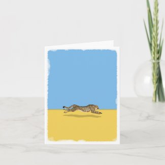 Cheetah blank greeting card