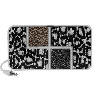 Cheetah Bling Abstract Mini Speakers