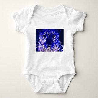 cheetah blue fractal design baby bodysuit