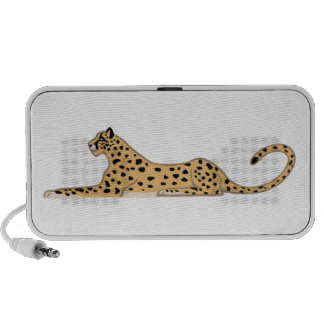 Cheetah Cat Lying Down from the Side Laptop Speakers