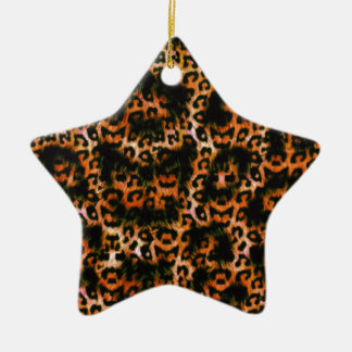Cheetah Cheetah Pop Art design Christmas Ornament