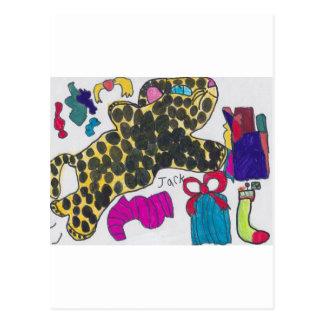 Cheetah Christmas Postcard