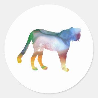 Cheetah Classic Round Sticker