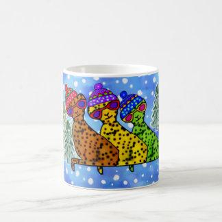 Cheetah Cool Cats Snow Day Mugs