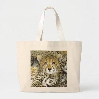 Cheetah Cub 2 Large Tote Bag