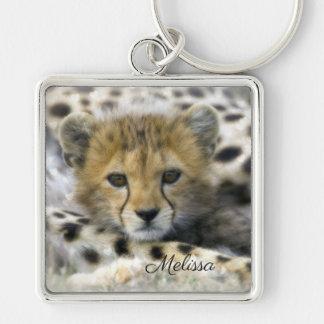 Cheetah Cub Key Ring