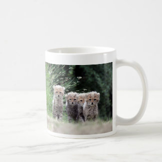 Cheetah cubs basic white mug