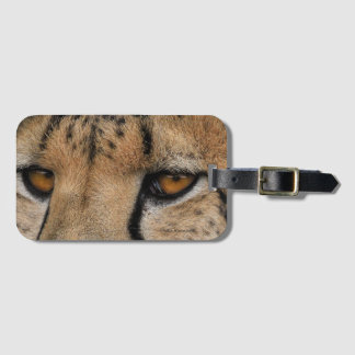 Cheetah Eyes Luggage Tag with Business Card Slot