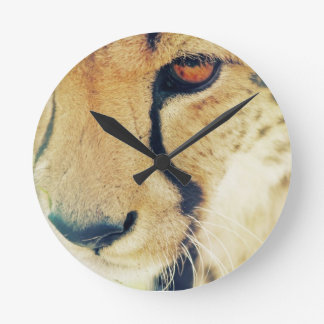 Cheetah Eyes Wall Clock