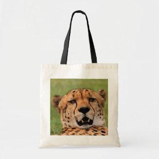 Cheetah Face Budget Tote
