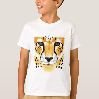 Cheetah face cartoon kids shirt