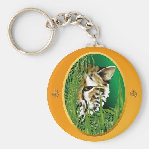 Cheetah Face Keychains