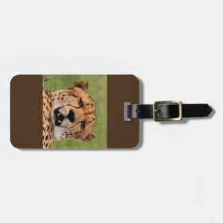Cheetah Face Luggage Tag