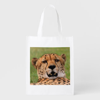 Cheetah Face - Reusable Shopping Bag