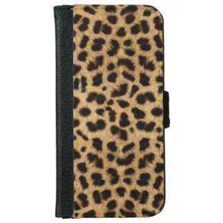 CHEETAH FUR PHOTO PRINTED iPhone 6 WALLET CASE
