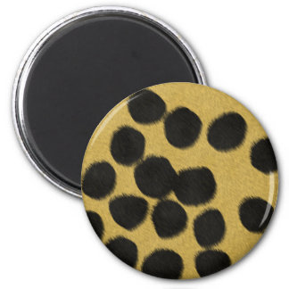 Cheetah fur texture print magnet