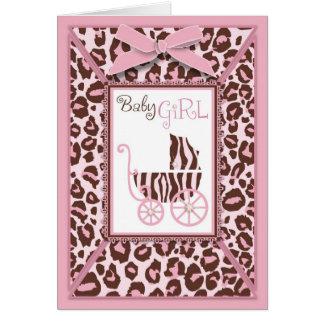 Cheetah Girl Card Pink A