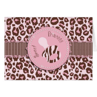 Cheetah Girl Card Pink B