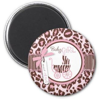 Cheetah Girl Magnet Pink A