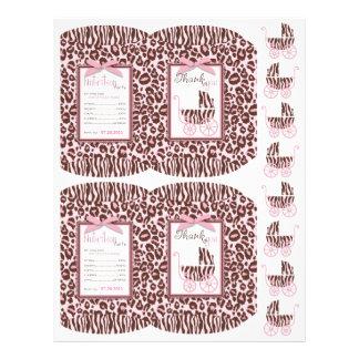 Cheetah Girl Mini Puff Box Template 21.5 Cm X 28 Cm Flyer