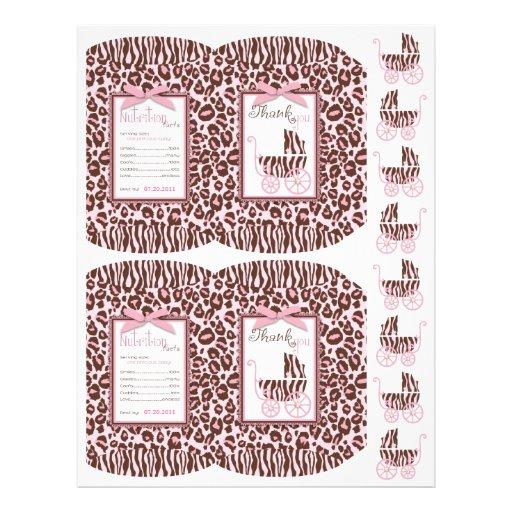 Cheetah Girl Mini Puff Box Template Personalized Flyer