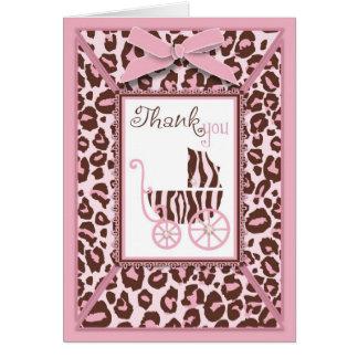 Cheetah Girl TY Card Pink