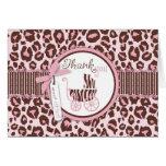Cheetah Girl TY Card Pink B