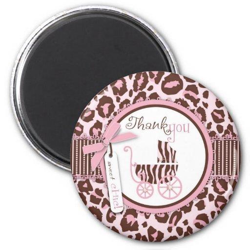 Cheetah Girl TY Magnet Pink