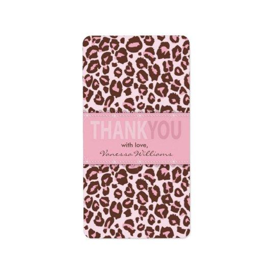 Cheetah Girl TY Mini Hershey Bar Label Address Label