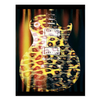 Cheetah Guitar Postcard