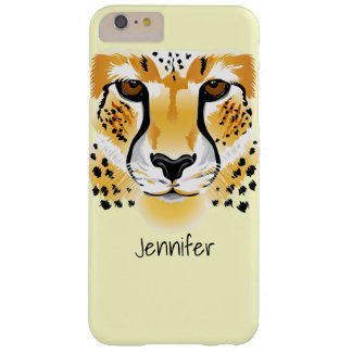 cheetah head close-up illustration barely there iPhone 6 plus case