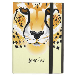 cheetah head close-up illustration iPad air cover