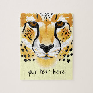 cheetah head close-up illustration puzzle