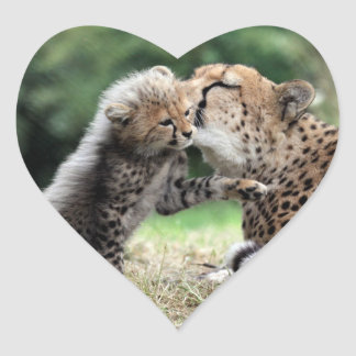 Cheetah Heart Sticker