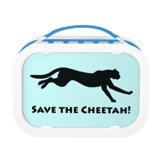 Cheetah in Silhouette Lunch Boxes