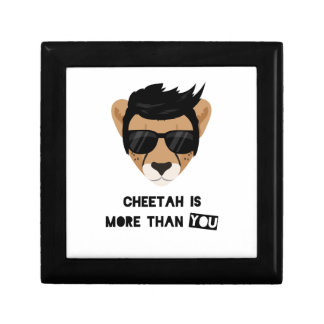 CHEETAH IS MORE THAN YOU SMALL SQUARE GIFT BOX