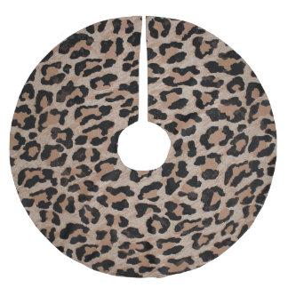 cheetah leopard print xmas christmas tree skirt