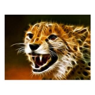 Cheetah Looking Postcard