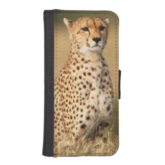Cheetah on small mound for better visibility iPhone SE/5/5s wallet case