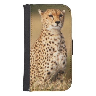 Cheetah on small mound for better visibility samsung s4 wallet case