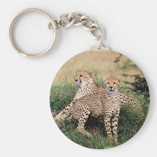 Cheetah Pair Key Ring