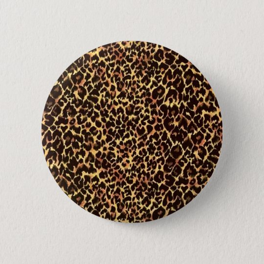 Cheetah Pattern 6 Cm Round Badge