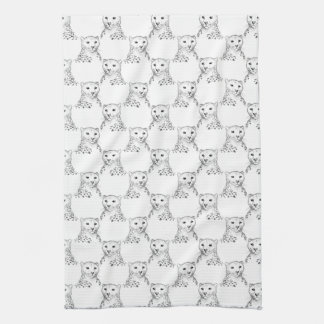 Cheetah Pattern. Hand Towel