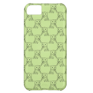Cheetah Pattern in Green. iPhone 5C Case