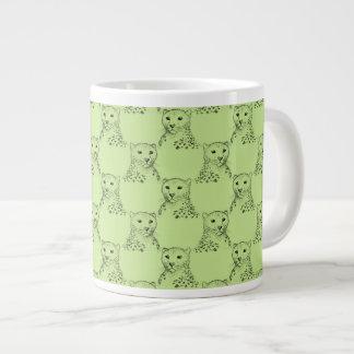 Cheetah Pattern in Green. Large Coffee Mug