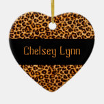 Cheetah Pattern Keepsake Ornament