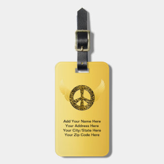 Cheetah Peace Angel Luggage Tag