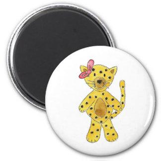 Cheetah Pink Bow Fridge Magnets
